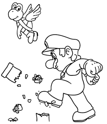 Super Mario Coloring Pages For Kids Printable