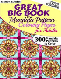 Amazon Great Big Book Of Mandala Pattern Coloring Pages For Adults