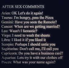 Virgo Man Leo Woman In Bed by Zodiac After Comments Capricorn Aquarius Pisces Aries Taurus