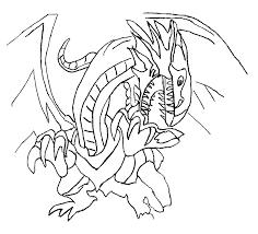 Blue Eyes White Dragon Yu Gi Oh Coloring Pages