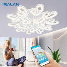 moderne led deckenleuchte dimmbar app fernbedienung le schlafzimmer wohnzimmer decke le