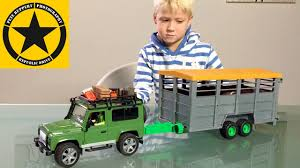 100 Toy Farm Trucks And Trailers BRUDER TOY Tractors Cattle Carrier Trailer BIG FARM For Children