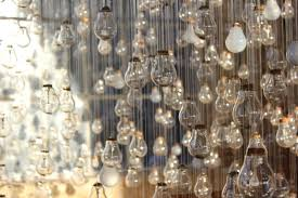 ephemeral rays an installation of several hundred light bulbs by
