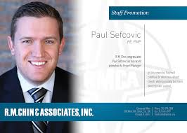 100 Sefcovic Congratulations To Paul On His Promotion To Project Manager