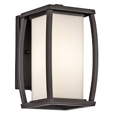 kichler 49337az one light outdoor wall mount wall porch lights