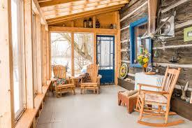 Vankleek Hill Heritage Log Home Rustic Sunroom