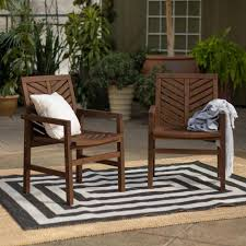 Walker Edison Furniture Company Dark Brown Acacia Wood Outdoor Patio Lounge  Chair (2-Pack) Teak Patio Chair Fniture Home And Garden Fniture High The Weatherproof Outdoor Recliner Amya Contemporary Chair With Plush Cushion By Of America At Rooms For Less Hondoras In Bay Cream Klaussner Delray W8502 Cdr Gci Freestyle Rocker Mesh Flamaker Folding Patio Rattan Foldable Pe Wicker Space Saving Camping Ding Bungalow Rose Spivey Reviews Walmartcom Breeze Lounge