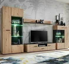 wohnwand solido wohnzimmer set anbauwand schrankwand modern
