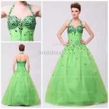green puffy prom dresses long dresses online