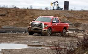 2018 Toyota Tundra 5.7L 4x4 Double Cab Test: Time For A Change ... Tamiya 110 Toyota Tundra Highlift Kit Towerhobbiescom Ford F150 Svt Raptor Vs Trd Pro Carstory Blog Custom Trucks Near Raleigh And Durham Nc The Fullsize Capable At Thomasville 2011 Top Speed New 2019 4x4 4wd Crewmax 57l Sr5 Short Bed In Round Heavyduty 2017 Grey Tundrabronze Wheels Accents Tundra Toyota Trucks 7 Things To Know About Toyotas Newest 2018 Crewmax 55 Truck Rock Test Drive Tough Is Built To Last Times Free Press