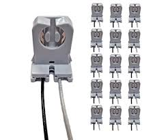 Requires Non Shunted Lamp Holders Tombstones by Pack Of 15 Ul Listed Non Shunted T8 Lamp Holder Socket Import