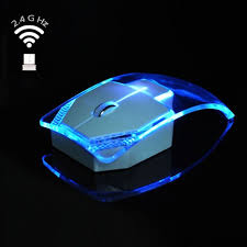 le bureau led sans fil transparent led ultra mince 2 4g souris sans fil silencieux gamer