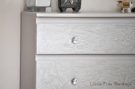 how to do a crackled paint malm dresser makeover ikea hackers