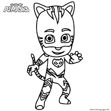 Catboy From PJ Masks Coloring Pages Printable