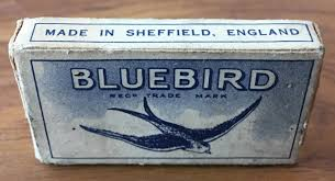 100 The Razor Vintage Blades Bluebird Pack Of 12 Sheffield England