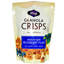 Pumpkin Flaxseed Granola Nutrition by Peace Cereal Yogi Granola Crisps Mountain Blueberry Flax 10 4