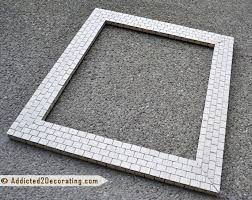 Mosaic Framed Bathroom Mirror by Bathroom Makeover Day 13 Mosaic Tile Mirror Part 2 With Better