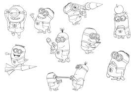 Free Despicable Me Coloring Pages Minions