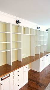 Build A Wall To Built In Desk And Bookcase Unit Home