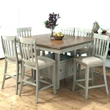 Tall Square Dining Table Breakfast Bar Height Set Counter Rustic Sets