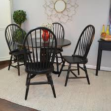 Black Wood Windsor Dining Chair