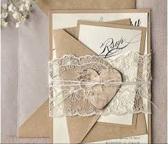 Rustic Recycled Lace Wedding Invitations