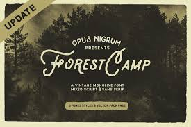 Forest Camp Font Free Vector Pack Display Fonts Creative Market