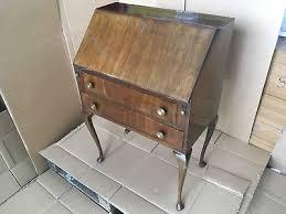 vintage bureau antique deco jentique carved oak bureau desk 1930s free