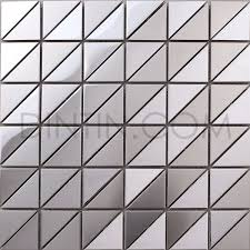 silver triangle stainless steel mosaic tiles