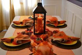 Dining Room Table Decorating Ideas For Fall by Ideas Wonderful Orange Theme Thanksgiving Decoration Table