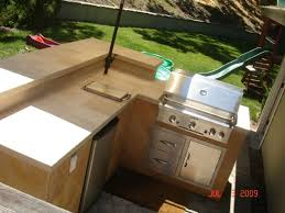 L Shaped Outdoor Kitchen Dimensions