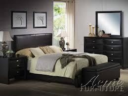 acme ireland eastern king platform bed in black 14337ek