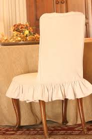 Skirted Parsons Chairs With Arms by Brown Fabric Dining Chair Cover With Half Skirt With Slip Chair