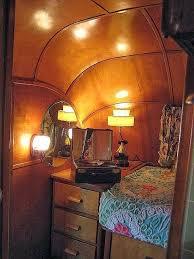 Beautiful Vintage Old Wood Trailer Interior Nice Retro Decorlove The