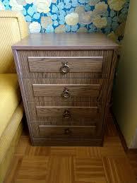 schlafzimmer bett kleiderschrank kommode nachttisch retro