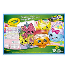 Crayola Giant Coloring Pages Shopkins