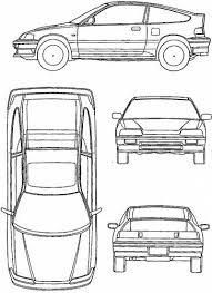 Honda Crx Coloring Page Paper Craft