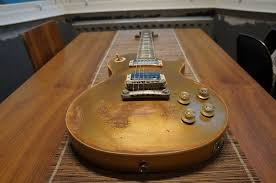 Les Paul Gold Top Back Neck Snowy White 57 Vibe Relic Kent Armstrong