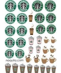 Printable Mini Starbucks Logos