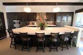 Kitchen Island With Seating Sink Plus Faucet Layouts Cream Brick Wall Along Black
