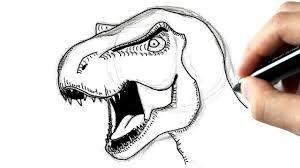 Comment Dessiner Un Tyrannosaure YouTube