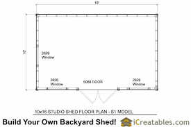 10 X 16 Shed Plans Free by 10x16 Studio Shed Plans S1 10x12 Office Shed Plans Modern Shed