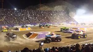 100 Monster Trucks El Paso Jam Texas 2016 YouTube