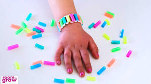 How To Make Creative Things From Waste Material At Home For Kids Step By Beautiful Drinking Straw Bracelet