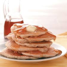 Bisquick Pumpkin Puff Pancakes by Sweet Apple Pancakes With Cider Syrup Recipe Taste Of Home