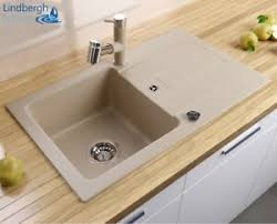details zu lindbergh granit spüle beige sop siphon einbauspüle küchenspüle spülbecken