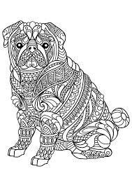 Adult Colouring Cats Dogs Zentang Interest Dog Coloring Pages For Adults