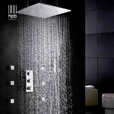 hpb luxus 20 inch 50x50 cm edelstahl dusche kopf badezimmer