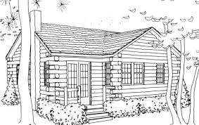 Cabin Coloring Pages 12