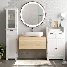 badezimmer homecho hochschrank bad badezimmerschrank weiß